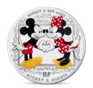 10 euro France 2018 Proof silver - Mickey Mouse & friends Obverse (zoom)