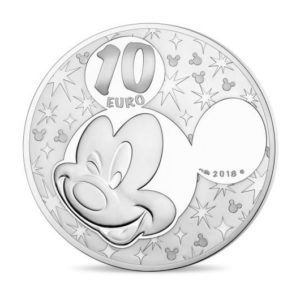 10 euro France 2018 Proof silver - Mickey Mouse & friends Reverse (zoom)