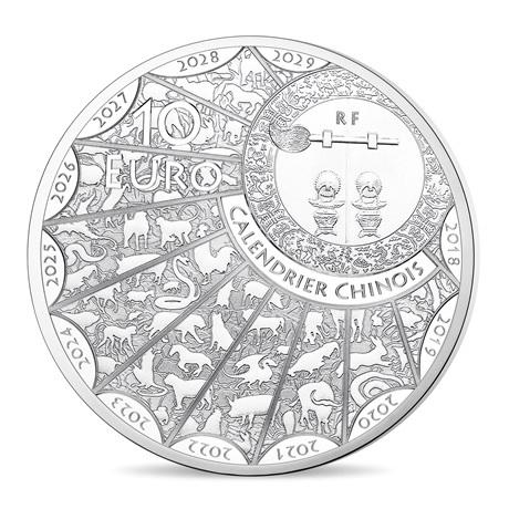 10 euro France 2019 argent BE - Année du Cochon Avers