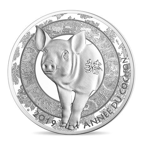 10 euro France 2019 argent BE - Année du Cochon Revers