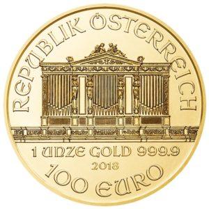 100 euro Austria 2018 1 ounce gold - Vienna Philharmonic Orchestra Obverse (zoom)