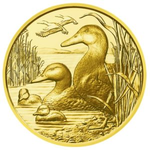 100 euro Austria 2018 Proof gold - Mallard Reverse (zoom)
