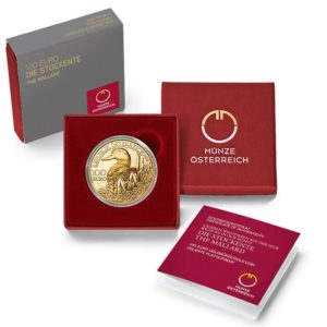 100 euro Austria 2018 Proof gold - Mallard (packaging) (zoom)