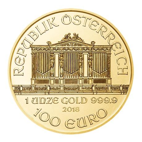 100 euro Autriche 2018 1 once or - Philharmonique Avers