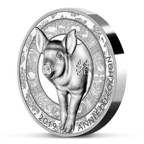 20 euro France 2019 argent BE - Année du Cochon (tranche)