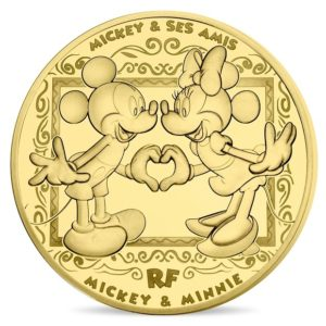 200 euro France 2018 Proof gold - Mickey Mouse & friends Obverse (zoom)
