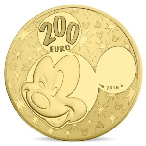 200 euro France 2018 Proof gold - Mickey Mouse & friends Reverse (zoom)