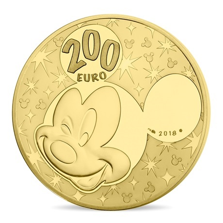 200 euro France 2018 or BE - Mickey Mouse Revers