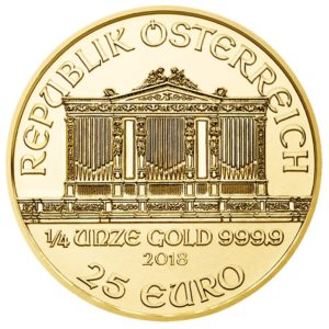 25 euro Austria 2018 0.25 ounce gold - Vienna Philharmonic Orchestra Obverse (zoom)