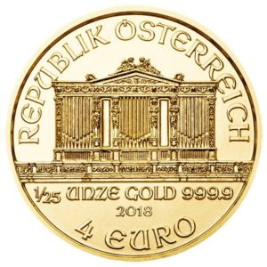 4 euro Austria 2018 0.04 ounce gold - Vienna Philharmonic Orchestra Obverse (zoom)