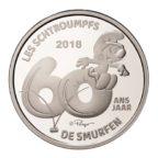 5 euro Belgique 2018 argent BE - Les Schtroumpfs Revers