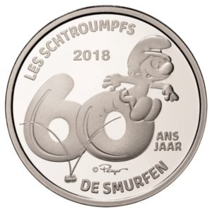 5 euro Belgium 2018 Proof silver - The Smurfs Reverse (zoom)