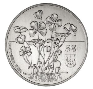5 euro Portugal 2018 - Four-leaf clover Obverse (zoom)
