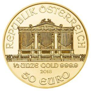 50 euro Austria 2018 0.50 ounce gold - Vienna Philharmonic Orchestra Obverse (zoom)