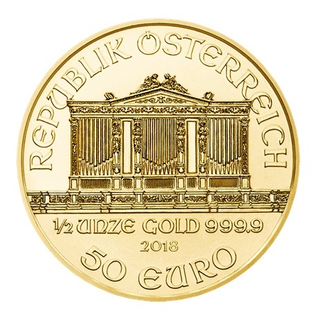 50 euro Autriche 2018 0,50 once or - Philharmonique Avers