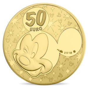 50 euro France 2018 Proof gold - Mickey Mouse & friends Reverse (zoom)