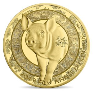 50 euro France 2019 Proof gold - Year of the Pig Reverse (zoom)