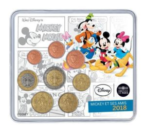 Brilliant Uncirculated mini-set France 2018 - Mickey Mouse Front (zoom)