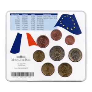 (EUR07.CofBU&FDC.2006.M-S15.cp5.128) Mini-set BU France 2006 - Pierre Curie Verso