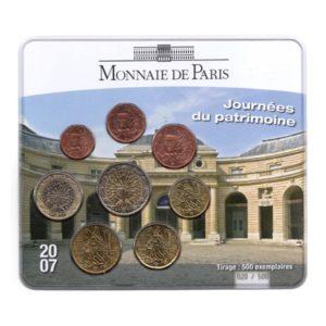 (EUR07.CofBU&FDC.2007.M-S16.020) Mini-set BU France 2007 - Journées du patrimoine Recto