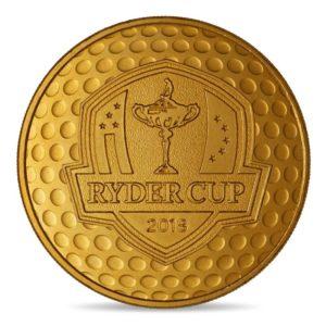 (FMED.Méd.even.2018.CuAlNi1) Event token - Ryder Cup Obverse (zoom)