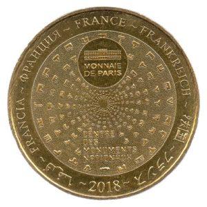(FMED.Méd.tourist.2018.CuAlNi-4.spl.000000001) Tourism token - Chapelle expiatoire Reverse (zoom)