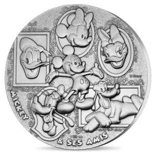 Silver plated bronze medal - Mickey & friends Obverse (zoom)