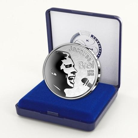 10 euro Belgique 2018 argent BE - Jacques Brel (écrin)