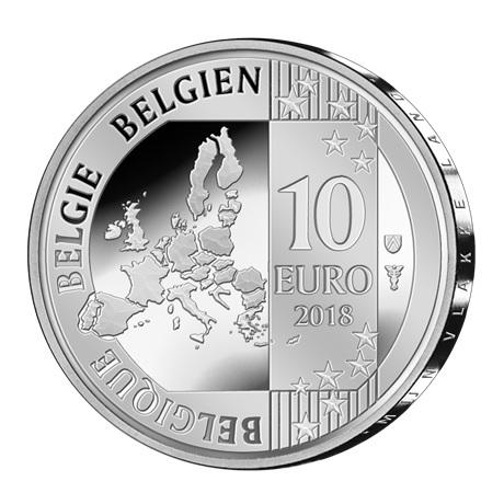 10 euro Belgique 2018 argent BE - Jacques Brel Avers