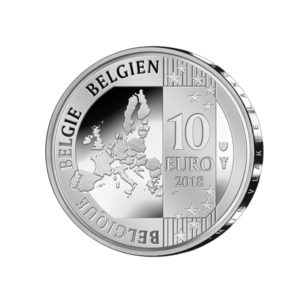 10 euro Belgium 2018 Proof silver - Jacques Brel Obverse (zoom)