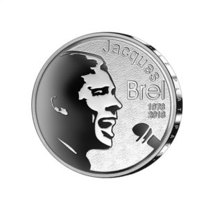 10 euro Belgium 2018 Proof silver - Jacques Brel Reverse (zoom)