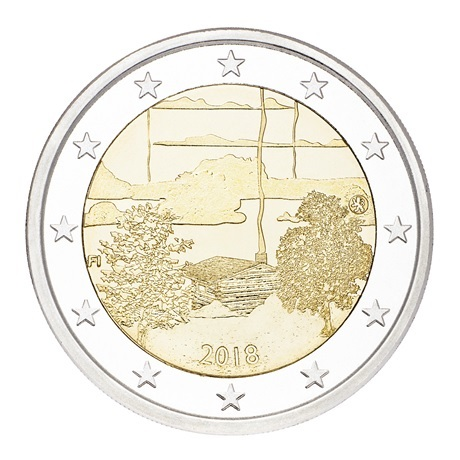 2 euro commémorative Finlande 2018 - Culture du sauna Avers
