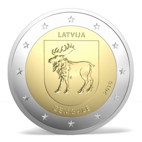 2 euro commémorative Lettonie 2018 - Sémigalie Avers