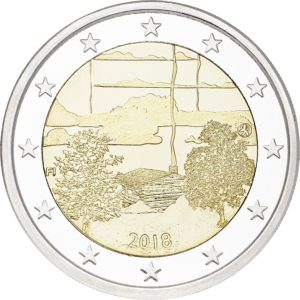2 euro commemorative coin Finland 2018 - Finnish sauna Obverse (zoom)
