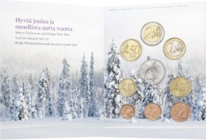 Brilliant Uncirculated coin set Finland 2018 - Christmas (inside) (zoom)