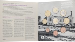 Brilliant Uncirculated coin set Finland 2018 - Finland's monetary history (inside) (zoom)
