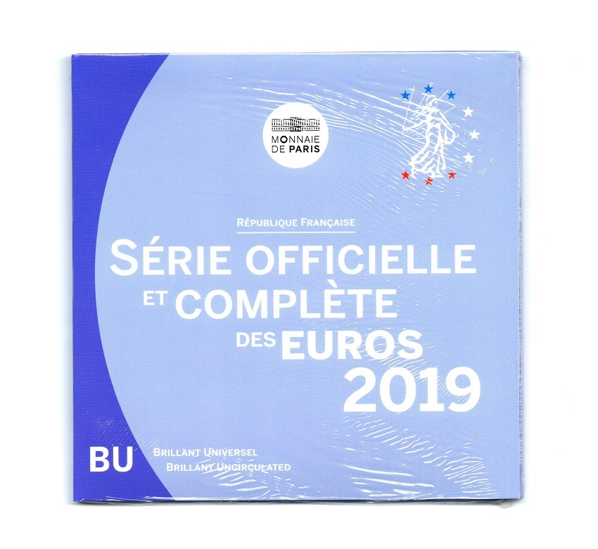(EUR07.CofBU&FDC.2019.10041327400000) BU coin set France 2019 Front (zoom)