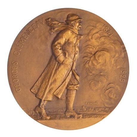 (FMED.Méd.MdP.CuSn.100113296700P0) Médaille bronze - Georges Clemenceau Avers