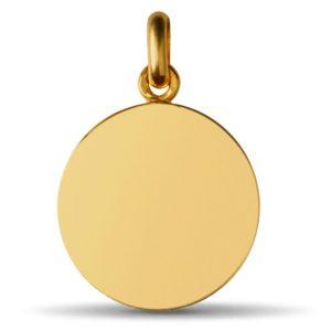 (FMED.Méd.couMdP.Au.10011074920P00) Gold pendant medal - Christogram Reverse (zoom)