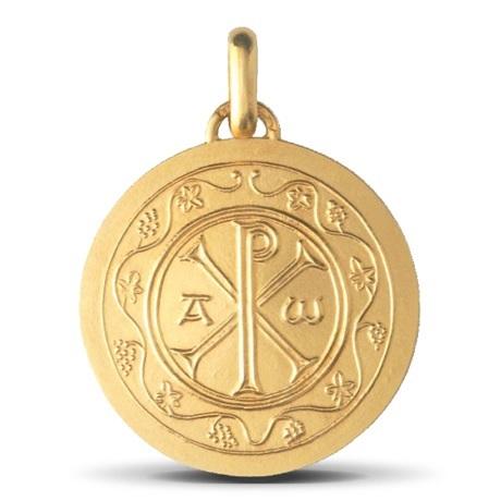 (FMED.Méd.couMdP.Au.10011074920P00) Médaille de cou or - Chrisme Avers