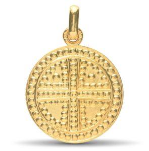 (FMED.Méd.couMdP.Au.10011209310A00) Gold pendant medal - Saint Simeon's Cross Obverse (zoom)