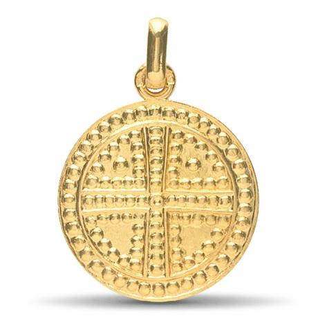 (FMED.Méd.couMdP.Au.10011209310A00) Médaille de cou or - Croix de Saint Siméon Avers