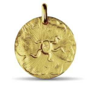 (FMED.Méd.couMdP.Au.10011215380O00) Gold pendant medal - Seal of Salvador Dali Obverse (zoom)