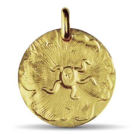 (FMED.Méd.couMdP.Au.10011215380O00) Médaille de cou or - Sceau de Dali Avers