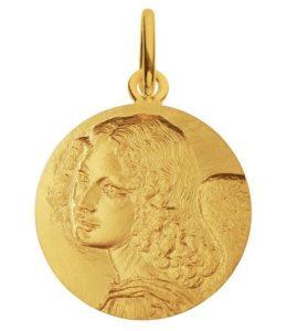 (FMED.Méd.couMdP.Au.10011300040A00) Gold pendant medal - Angel by Leonardo da Vinci Obverse (zoom)