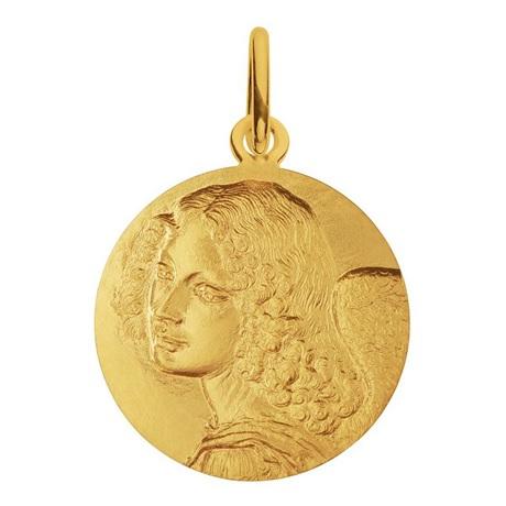 (FMED.Méd.couMdP.Au.10011300040A00) Médaille de cou or - Ange de Léonard de Vinci Avers