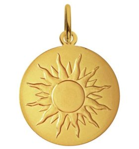 (FMED.Méd.couMdP.Au.10011300050P00) Gold pendant medal - I'll shine like a sun Obverse (zoom)