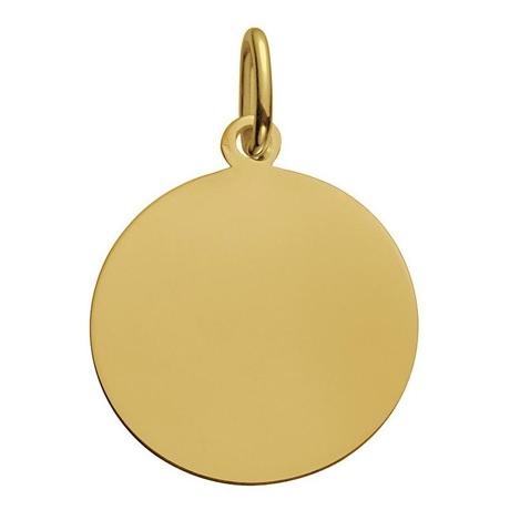(FMED.Méd.couMdP.Au.10011300050P00) Médaille de cou or - Je brillerai comme un soleil Revers