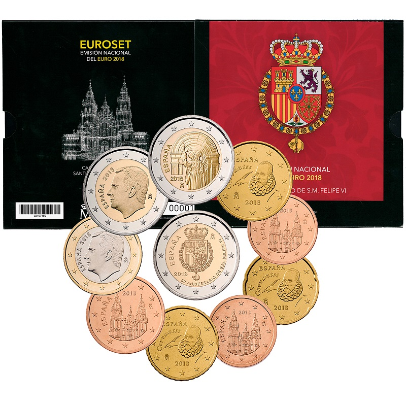 BU coin set Spain 2018 (zoom)