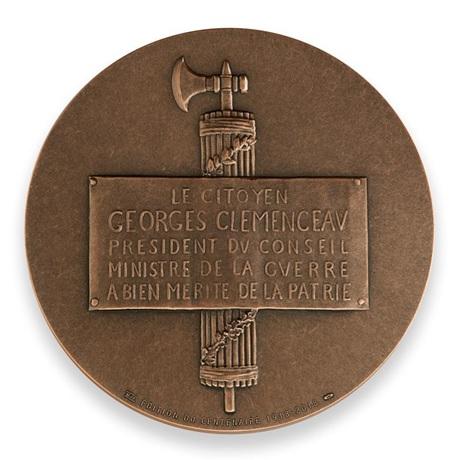 (FMED.Méd.MdP.CuSn.100113296700P0) Médaille bronze - Georges Clemenceau Revers